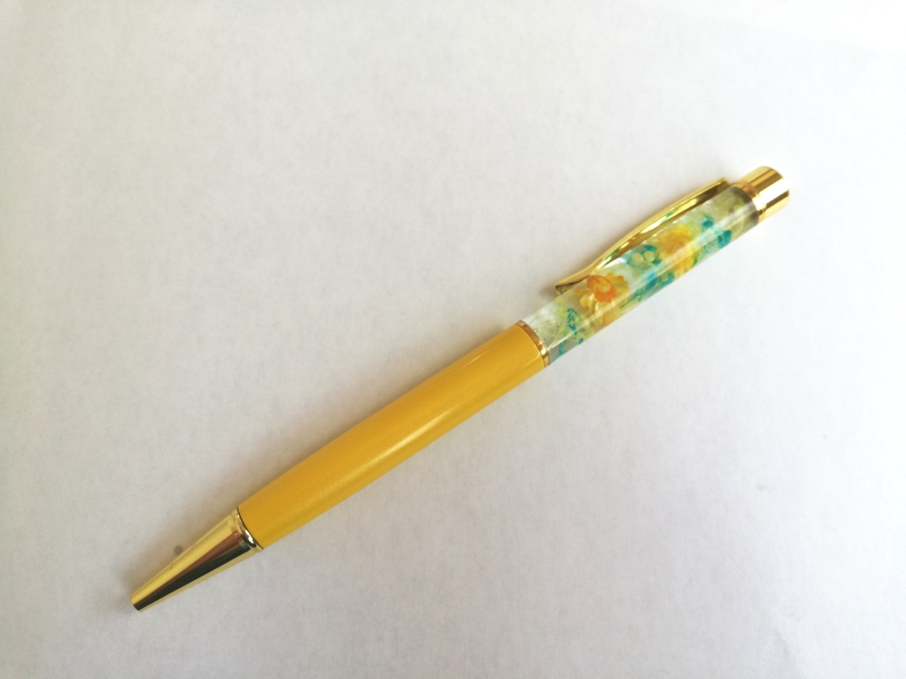 ハーバリウムボールペンの完成