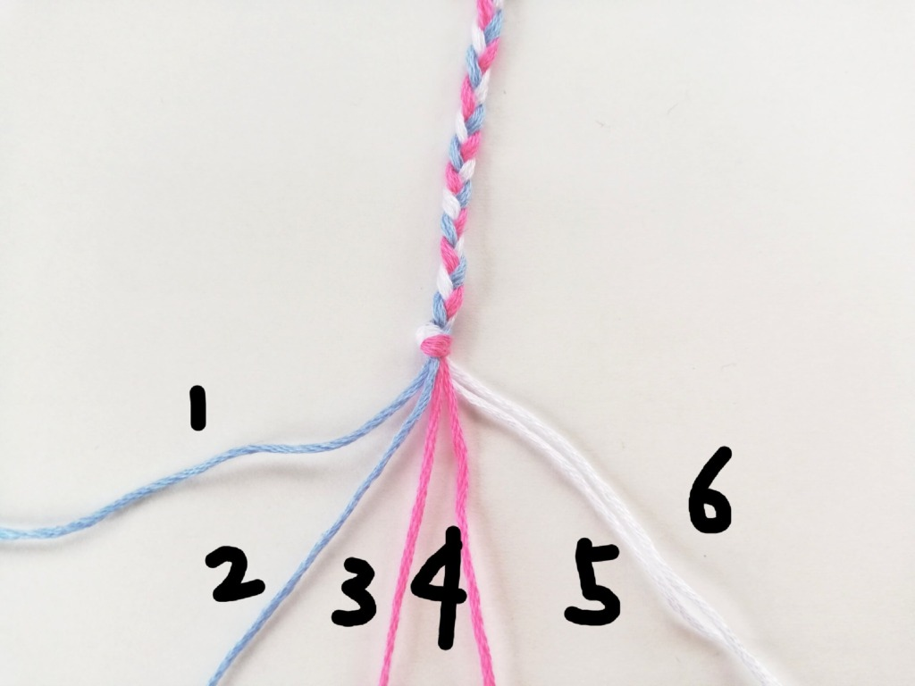編み始めるところ